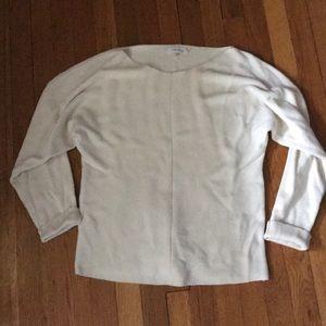 Scoop neck ivory Calvin Klein sweater